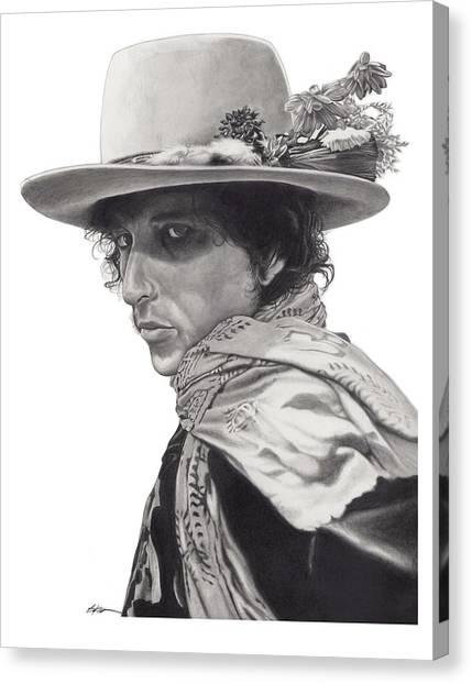 Bob Dylan Canvas Print - Dylan by Gary Kroman