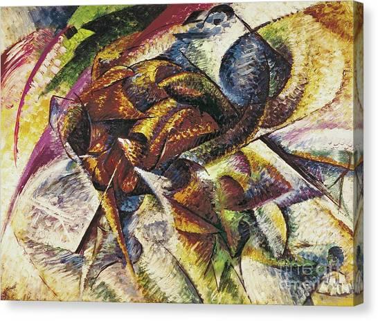 1916 Canvas Print - Dynamism Of A Cyclist by Umberto Boccioni