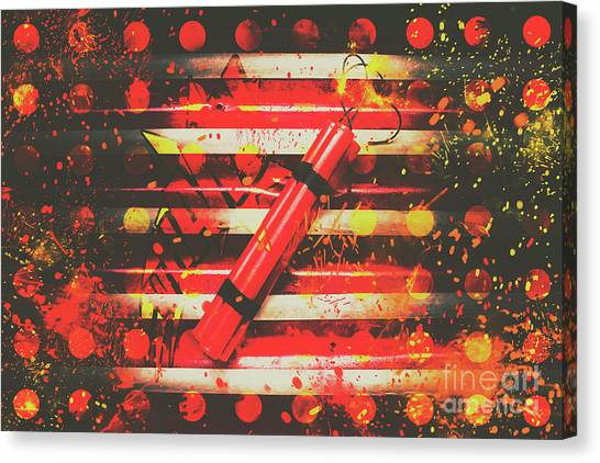 Pyrotechnics Canvas Print - Dynamite Artwork by Jorgo Photography - Wall Art Gallery