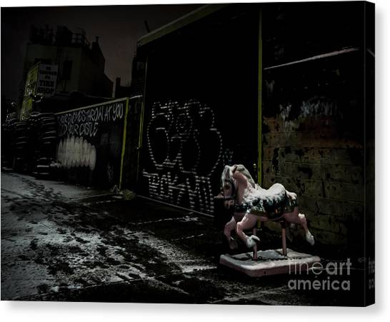 Dystopian Playground 1 Canvas Print