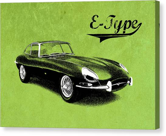Coupe Canvas Print - E-type by Mark Rogan