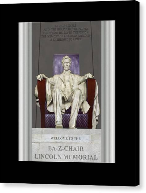 Lincoln Memorial Canvas Print - Ea-z-chair Lincoln Memorial by Mike McGlothlen