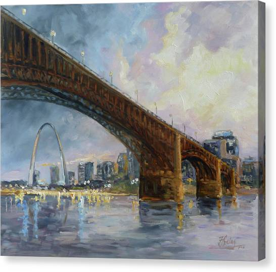 Canvas Print - Eads Bridge - St.louis by Irek Szelag