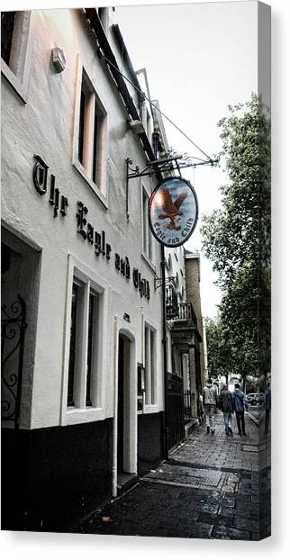 Tolkien Canvas Print - Eagle And Child Pub - Oxford by Stephen Stookey
