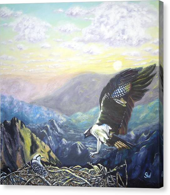 Eagle At Home Canvas Print