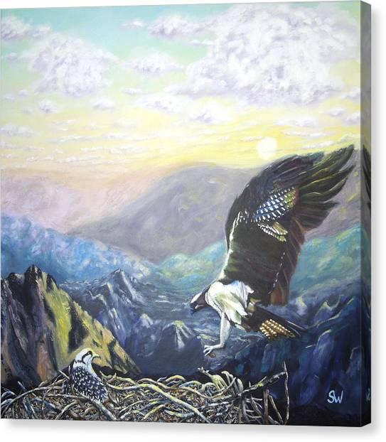 Eagle At Home Canvas Print