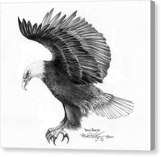 Eagle Attacking Canvas Print by Bob Patterson