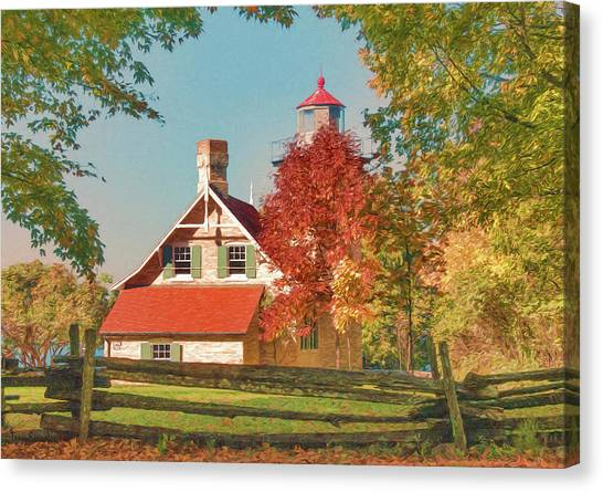 Eagle Bluff Lighthouse_1 Canvas Print