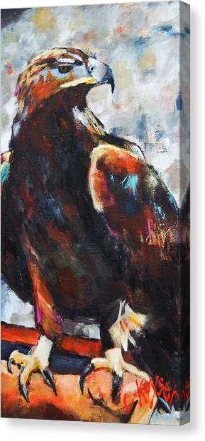 Eagle Canvas Print by Claire Kayser