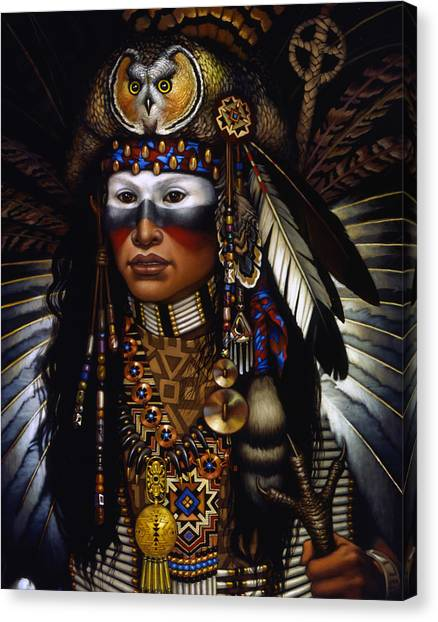 Indians Canvas Print - Eagle Claw by Jane Whiting Chrzanoska