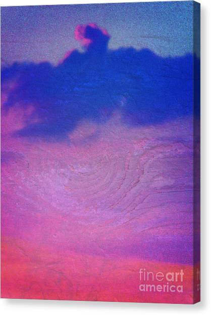Eagle Cloud In The Sky Canvas Print by Rose  Hill