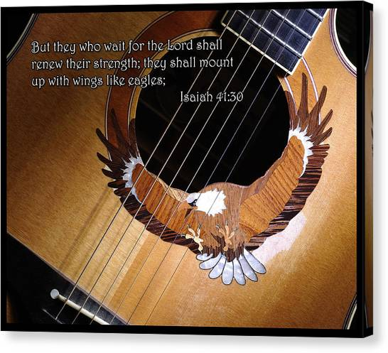 Eagle Guitar Canvas Print