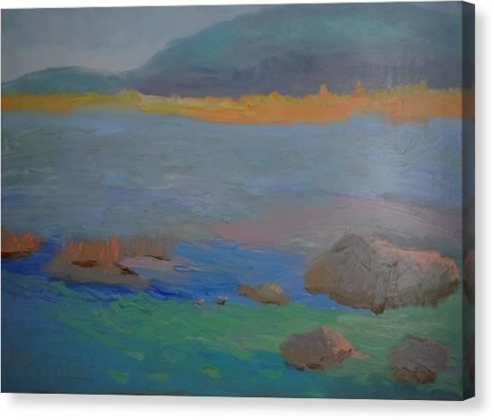 Eagle Lake In Blue Canvas Print