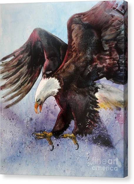 Eagle Of Light Canvas Print