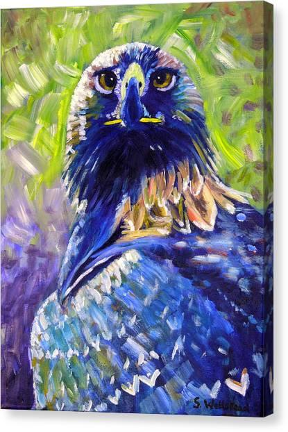 Eagle On Alert Canvas Print