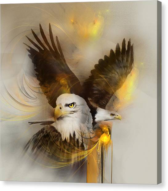 Eagle Pair Canvas Print