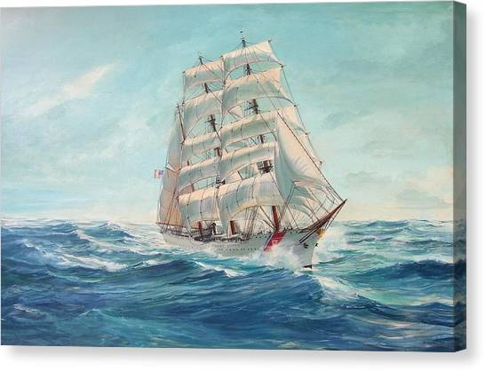 Coast Guard Canvas Print - Sailing Eagle by Perry's Fine Art