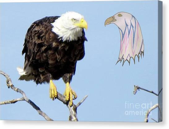Eagle Reflection Canvas Print
