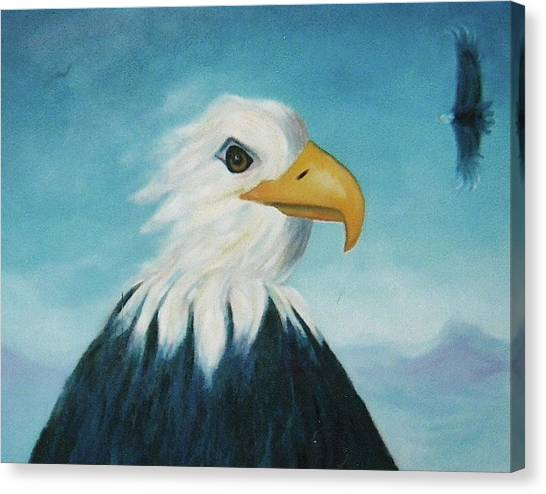 Eagle Canvas Print by Suzanne  Marie Leclair