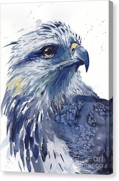 Snowflakes Canvas Print - Eagle Watercolor by Suzann's Art