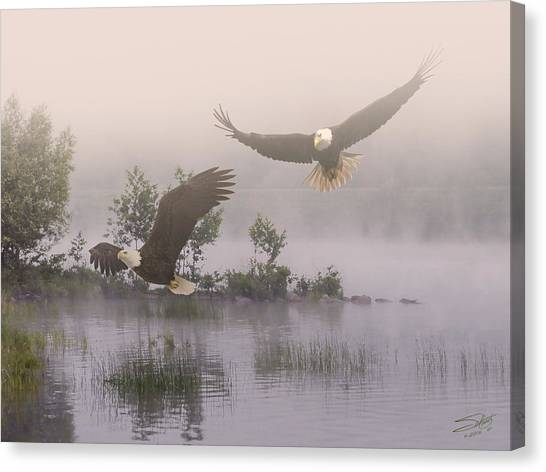 Eagles At Dawn Canvas Print