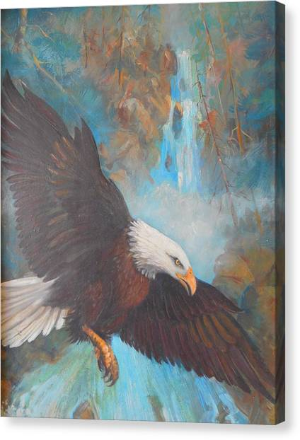 Lynn Burton Canvas Print - Eagle's Flight by Lynn Burton