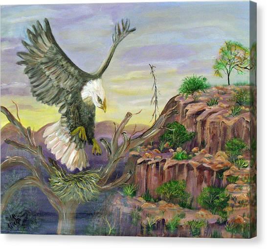 Eagles Nest Canvas Print by Mikki Alhart