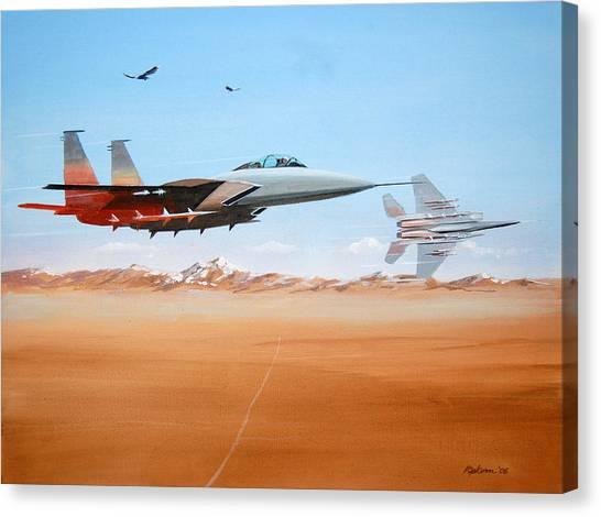 Eagles Canvas Print by Werner Pipkorn