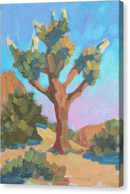 Blooming Tree Canvas Print - Early Bloom Joshua by Diane McClary