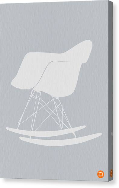 Orange Canvas Print - Eames Rocking Chair by Naxart Studio