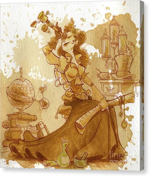 Steampunk Canvas Print - Earl Grey by Brian Kesinger