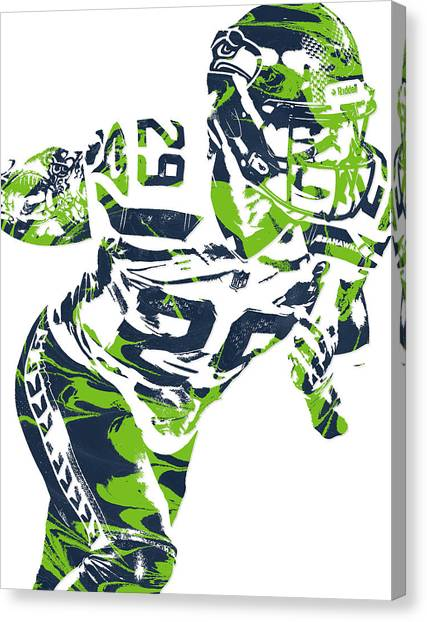 Seattle Seahawks Canvas Print - Earl Thomas Seattle Seahawks Pixel Art by Joe Hamilton