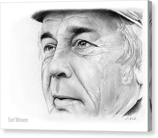 Baseball Canvas Print - Earl Weaver by Greg Joens
