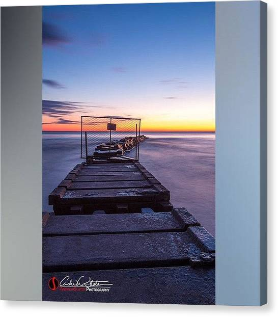 Sunrise Horizon Canvas Print - Early by Andrew Slater