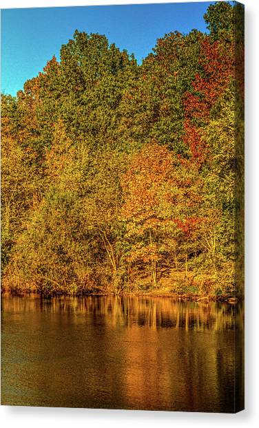 Early Autumn Canvas Print by Barry Jones