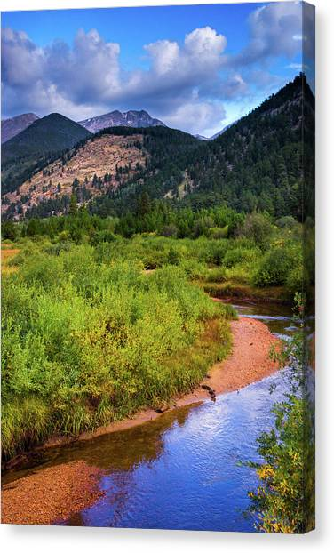Canvas Print featuring the photograph Early Autumn In Colorado by John De Bord
