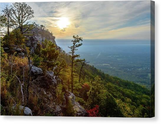 Early Autumn On Pilot Mountain Canvas Print
