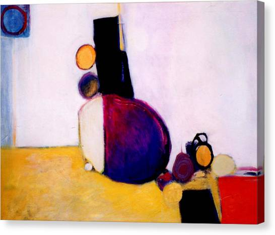 Canvas Print - Early Blob Having A Ball by Marlene Burns