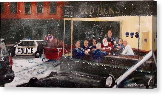 Canvas Print - Early Christmas Morning Coffee by Jack Skinner