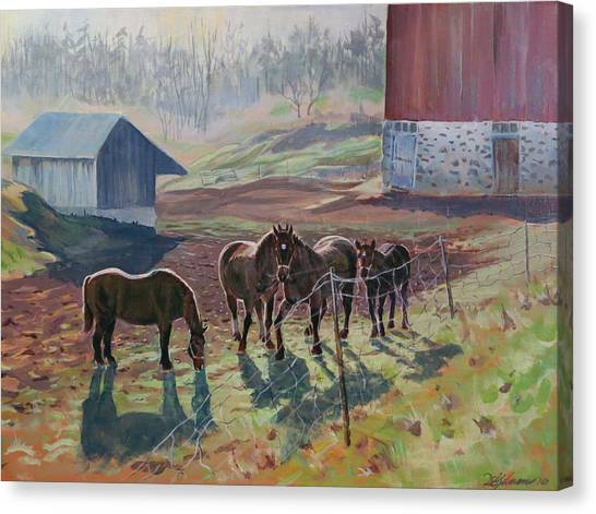 Early December At The Farm Canvas Print