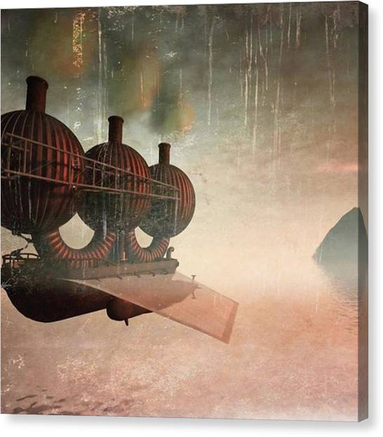 Steampunk Canvas Print - Early Departure - A Piece Of Work From by John Edwards