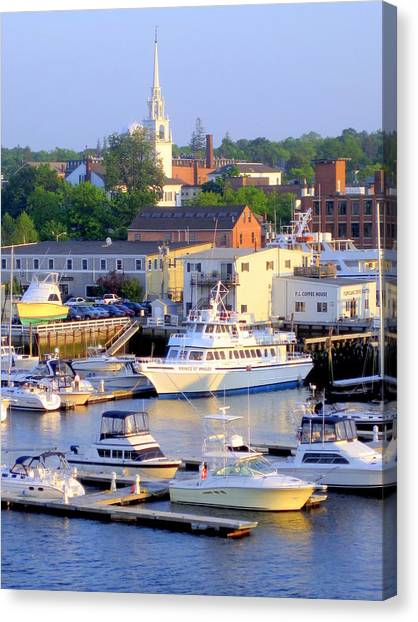 Early Evening On The Merrimack River Canvas Print