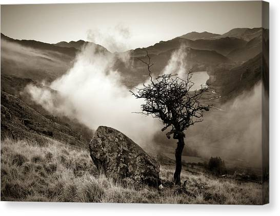 Early Mist, Nant Gwynant Canvas Print