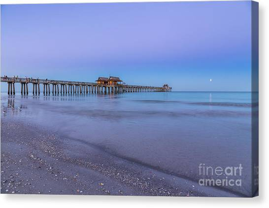 Early Morning At Naples Pier Canvas Print