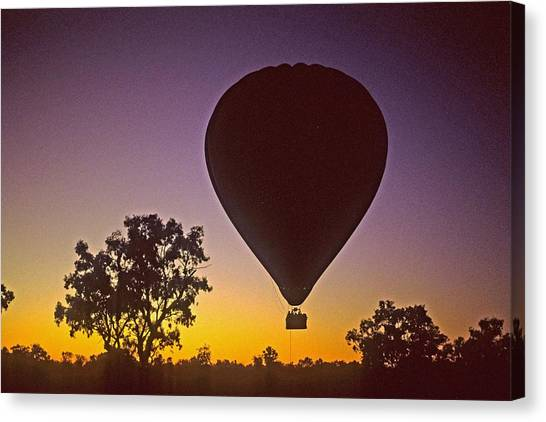 Early Morning Balloon Ride Canvas Print