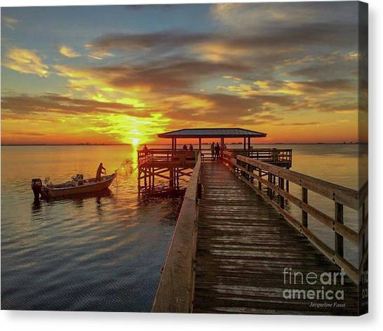 Early Morning Cast Canvas Print