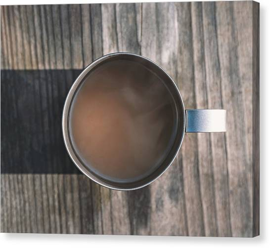 Rustic Canvas Print - Early Morning Coffee  by Scott Norris