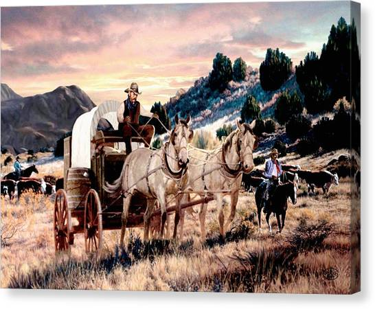 Early Morning Drive Canvas Print