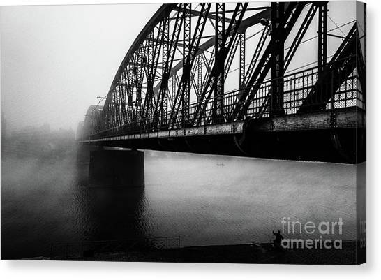 Early Morning Fishermen Canvas Print