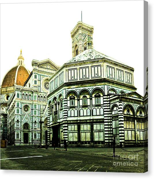 Early Morning Florentine Street Canvas Print by Emilio Lovisa